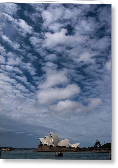 Sydney Opera House And Cloudscape Greeting Card