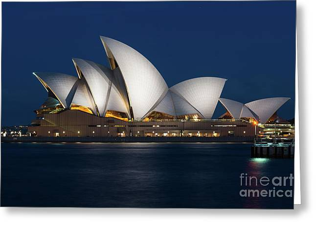 Sydney Opera House Greeting Card by Andrew Michael
