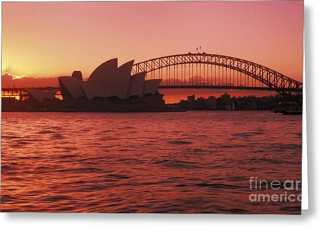 Sydney Opera House Greeting Card by Bill Bachmann - Printscapes