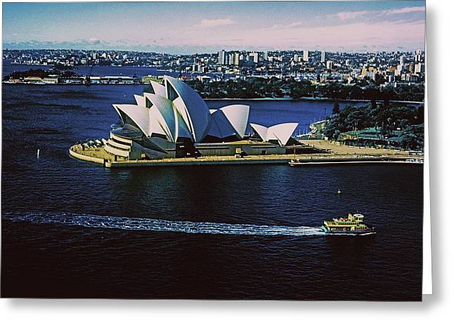 Sydney Opera House Greeting Card by Gary Wonning