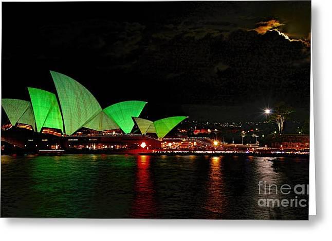 Sydney Opera House Vivid Festival Australia Greeting Card
