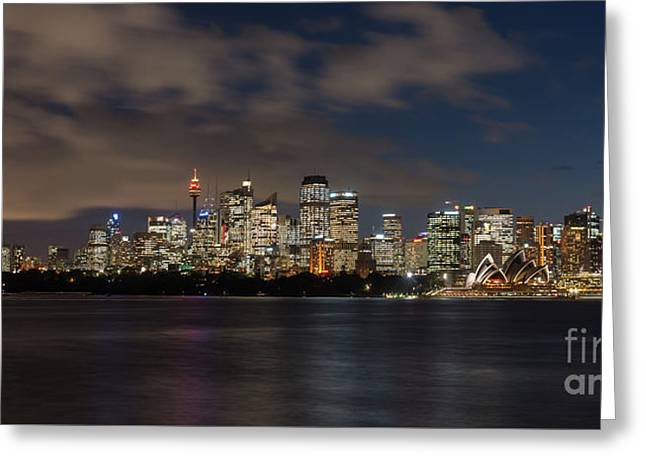 Sydney Panorama Greeting Card by Andrew Michael