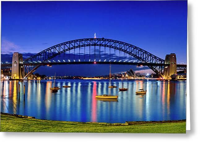 Sydney Reflections Greeting Card by Sean Davey