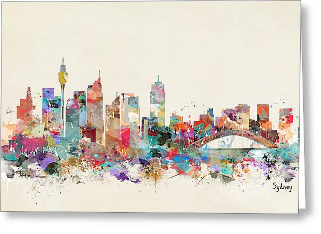 Sydney Skyline Australia Greeting Card