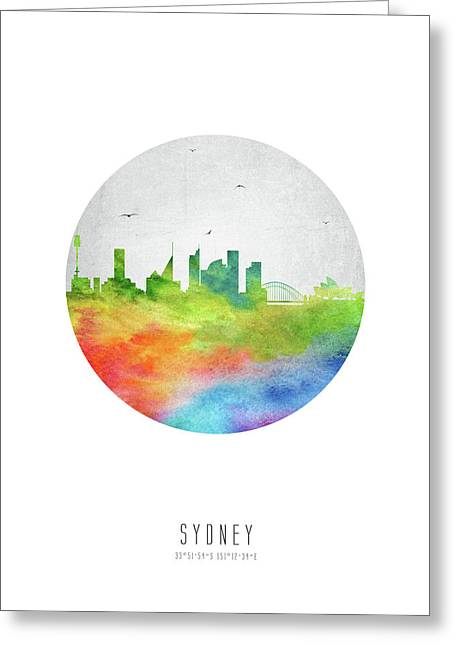 Sydney Skyline Ausy20 Greeting Card by Aged Pixel