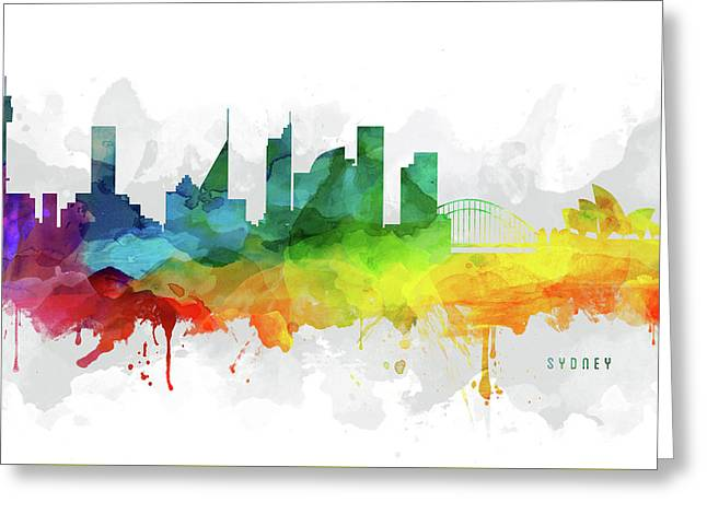Sydney Skyline Mmr-ausy05 Greeting Card by Aged Pixel