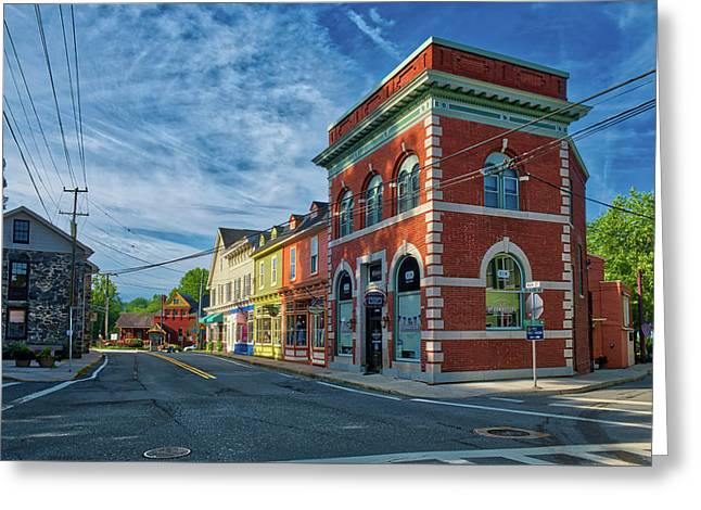 Greeting Card featuring the photograph Sykesville Main St by Mark Dodd