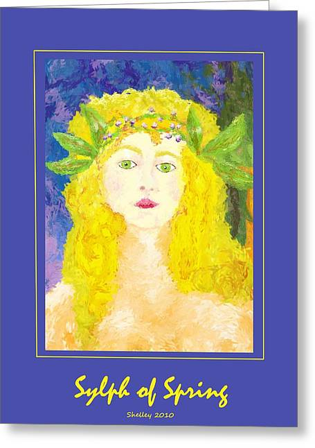 Greeting Card featuring the painting Sylph Of Spring Poster by Shelley Bain