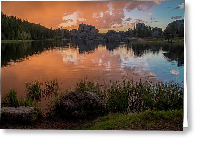 Greeting Card featuring the photograph Sylvan Lake by Gary Lengyel