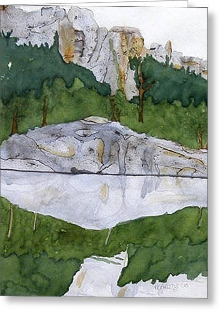 Sylvan Lake Greeting Card by Heather Ahrens