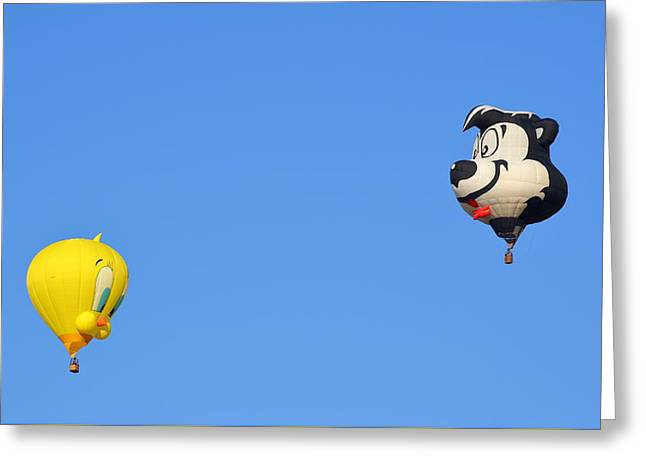 Greeting Card featuring the photograph Sylvester And Tweety by AJ Schibig