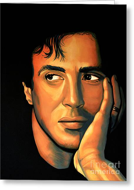 Sylvester Stallone Greeting Card by Paul Meijering