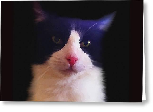 Sylvester Tuxedo Cat Greeting Card