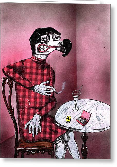 Sylvia Von Dodo Greeting Card by Bizarre Bunny