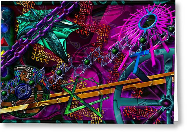 Greeting Card featuring the digital art Symagery 21 by Kenneth Armand Johnson