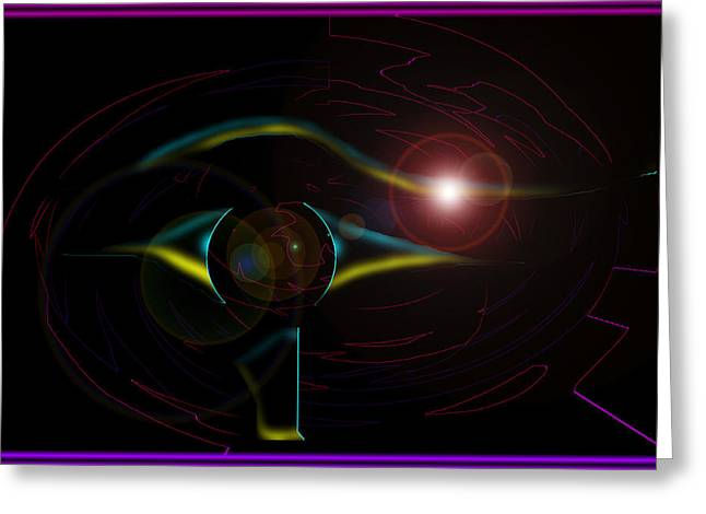 Symbol Of Space Intelligence Greeting Card by XERXEESE Color Schemes