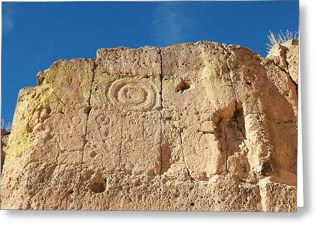Symbols In The Stone Greeting Card by Jeff Swan