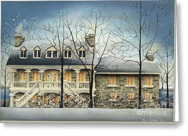 Symmes' Inn Greeting Card by Catherine Holman