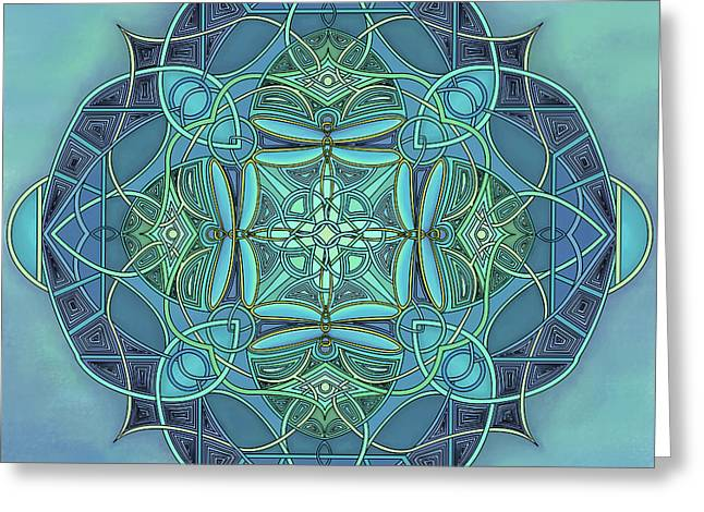 Symmetrical #12 Greeting Card by Marion Sipe