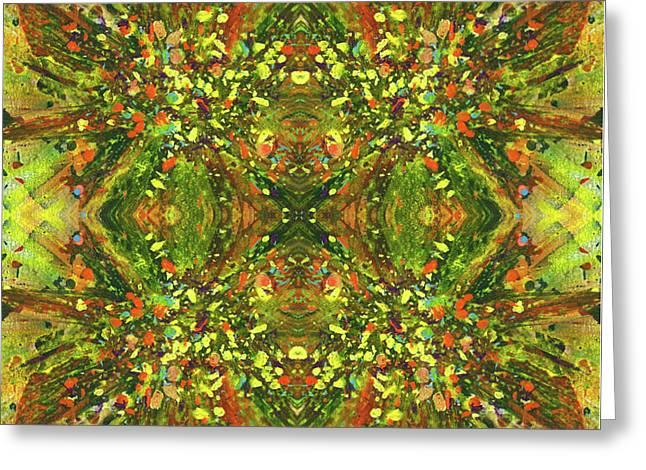 Symmetrical Reflections Of The Sound Waves #1387 Greeting Card by Rainbow Artist Orlando L aka Kevin Orlando Lau