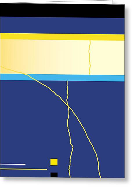Symphony In Blue - Movement 2 - 2 Greeting Card