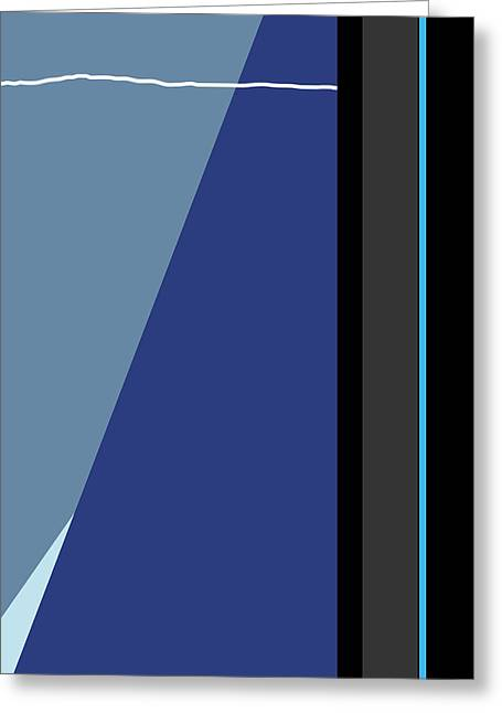 Symphony In Blue - Movement 3 - 3 Greeting Card