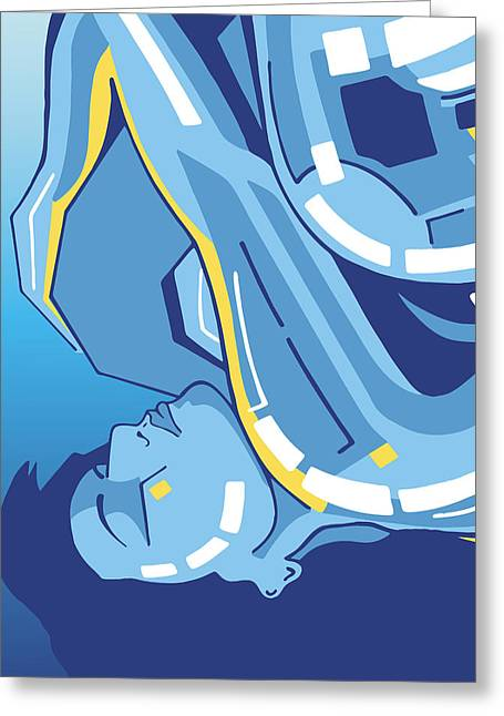 Symphony In Blue - Movement 4 - 2 Greeting Card