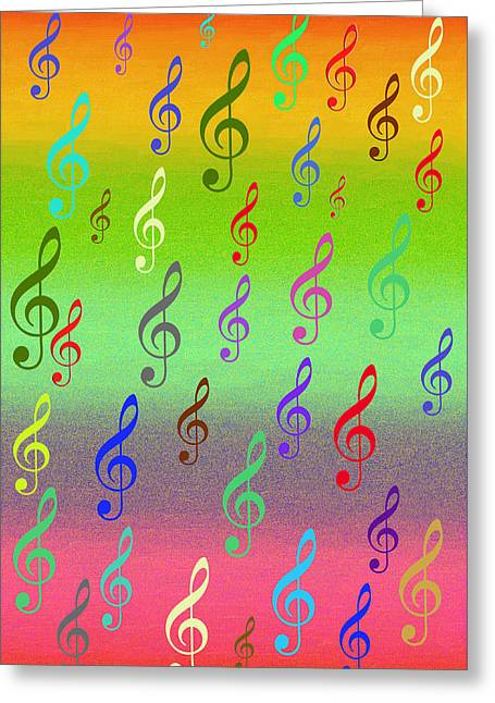 Greeting Card featuring the digital art Symphony Of Colors by Angel Jesus De la Fuente