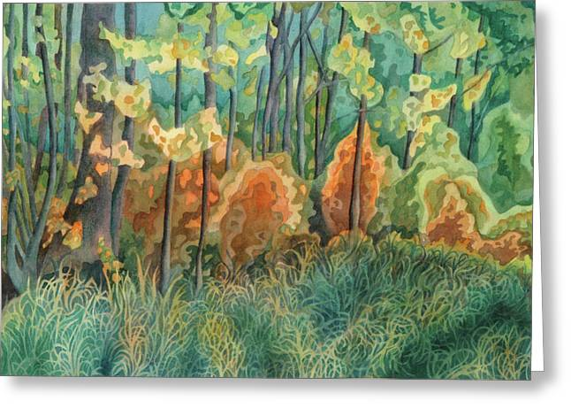 Symphony Of Light Greeting Card by Anne Havard