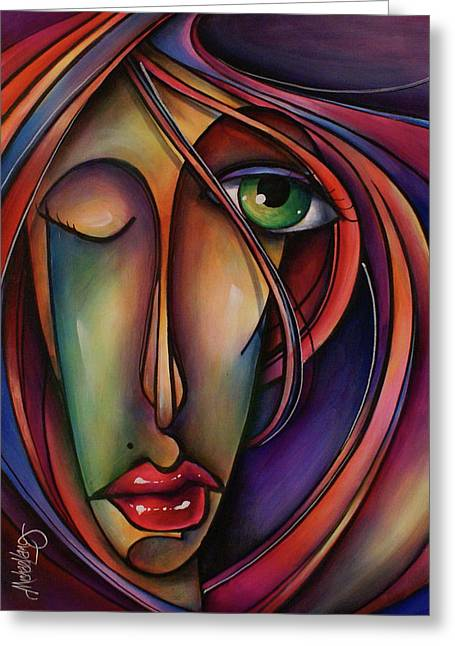 Synch Greeting Card by Michael Lang