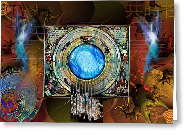Greeting Card featuring the digital art Synchronicity by Kenneth Armand Johnson