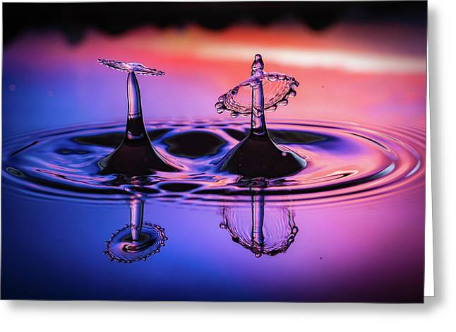 Synchronized Liquid Art Greeting Card