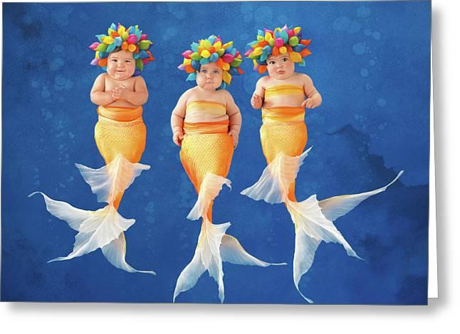 Synchronized Swim Team Greeting Card