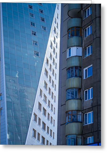 Synergy Between Old And New Apartments Greeting Card by John Williams