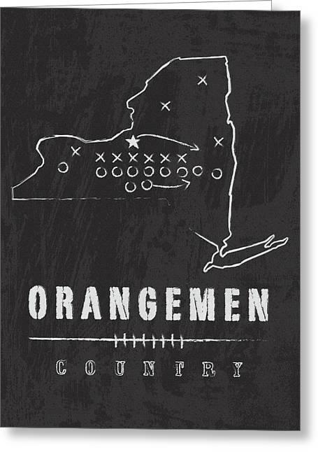 Syracuse Orangemen Country Greeting Card by Damon Gray