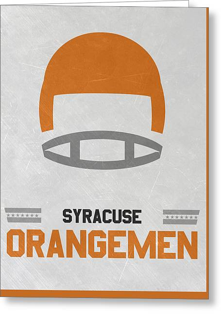 Syracuse Orangemen Vintage Football Art Greeting Card by Joe Hamilton