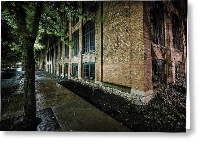 Greeting Card featuring the photograph Syracuse Sidewalks by Everet Regal