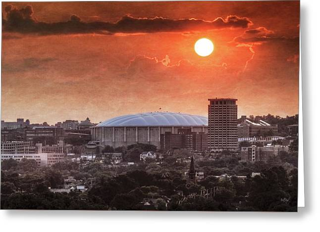 Syracuse Sunrise Over The Dome Greeting Card