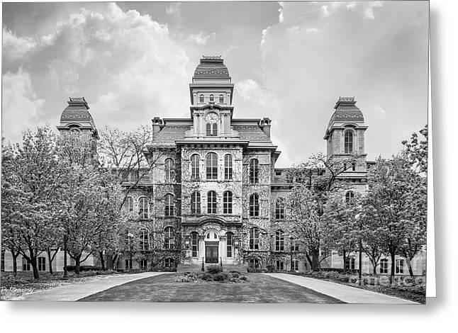 Syracuse University Hall Of Languages Greeting Card by University Icons