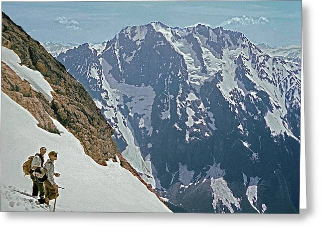 T-04402 Fred Beckey And Joe Hieb After First Ascent Forbidden Peak Greeting Card