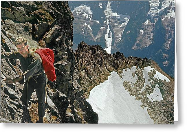 T-04403 Walt Buck Sellers On First Ascent Of Mt. Torment Greeting Card