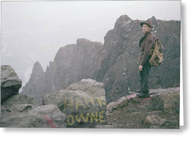 T-04701 Fred Beckey On Mt. Si 1958  Greeting Card