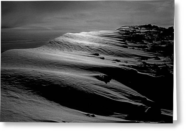 T-213312 Windblown Ice On Humphreys Peak Greeting Card