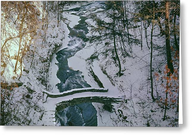T-31501 Gorge On Cornell University Campus Greeting Card