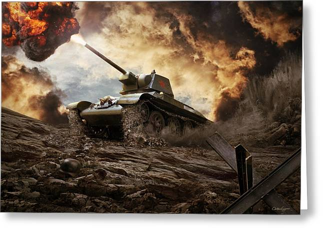 T-34 Soviet Medium Tank Wwii Greeting Card