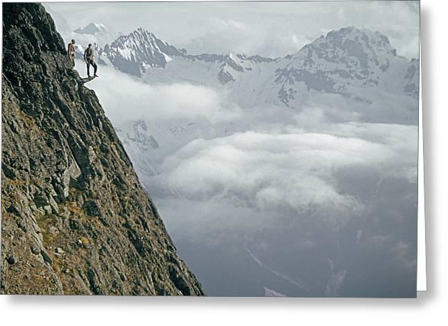 T-404101 Climbers On Sleese Mountain Greeting Card