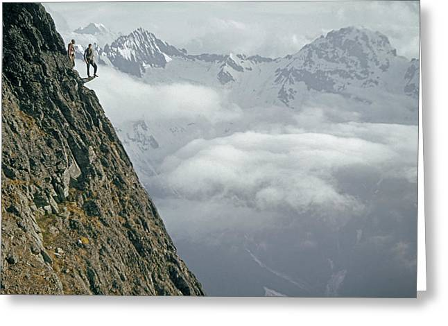 T-404101 Climbers On Sleese Mountain Greeting Card