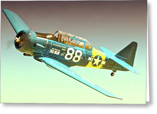T-6 Race 88  Greeting Card