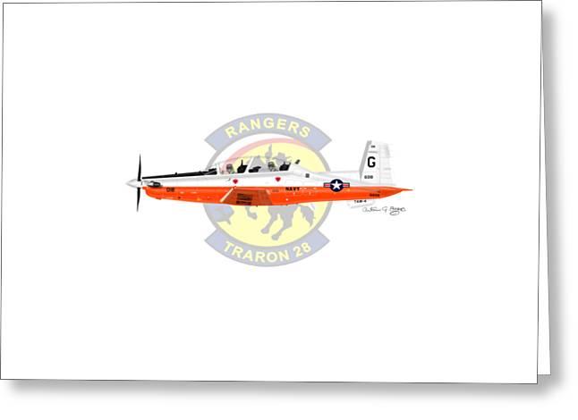 T-6b Texan II Vt28 Greeting Card by Arthur Eggers