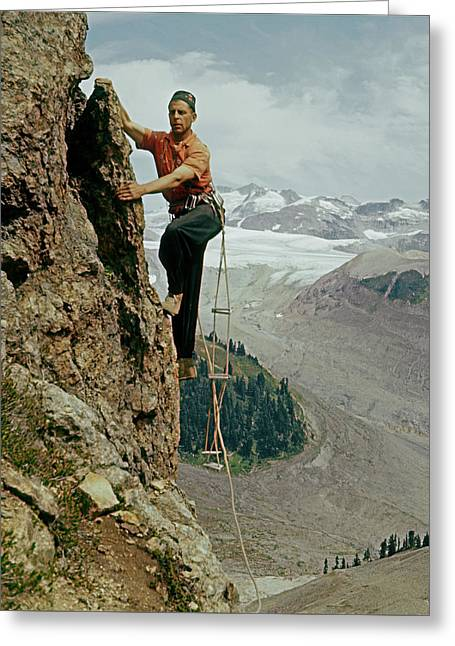 T-902901 Fred Beckey Climbing Greeting Card